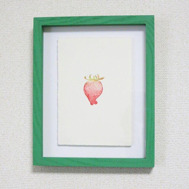 1点物 版画 額付き【Strawberry's portraitⅡ】の画像1枚目