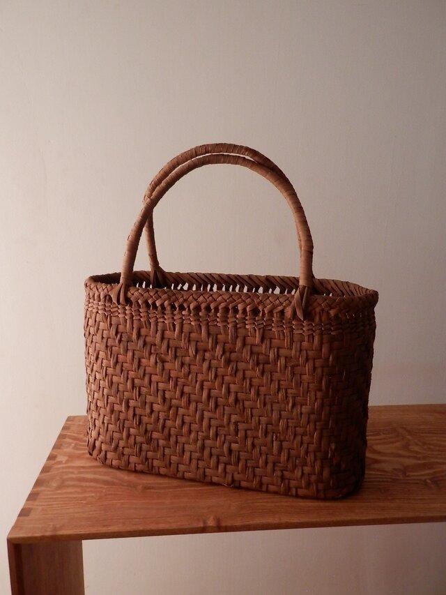 ぶどうつる編みbag 4 9㎜ 網代編みの画像1枚目