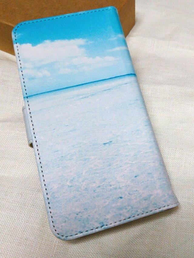 全機種対応 手帳型スマホケース *空と海*の画像1枚目