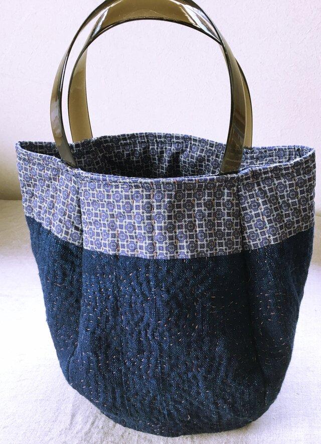 藍トートバッグの画像1枚目