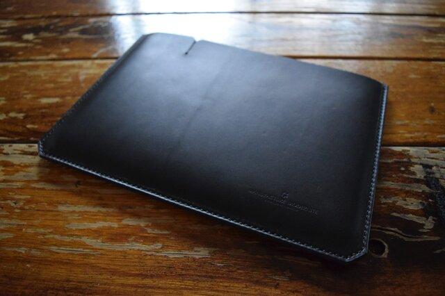 [受注生産品] 栃木レザー iPadケース(9.7インチ) MNC-07 BLACKの画像1枚目