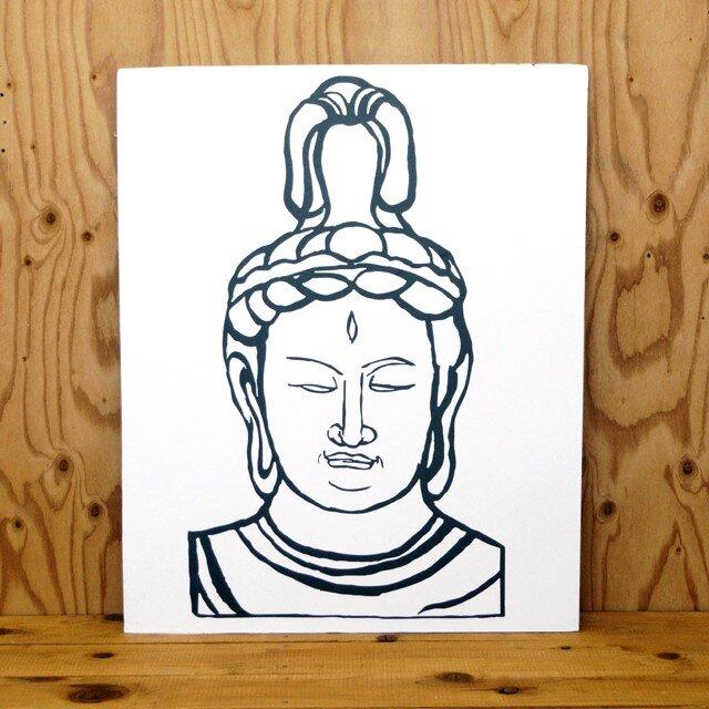 2D仏像顔出し看板kit ( 帝釈天 )の画像1枚目