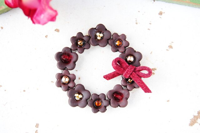 Fleurs de chocolat Broochの画像1枚目