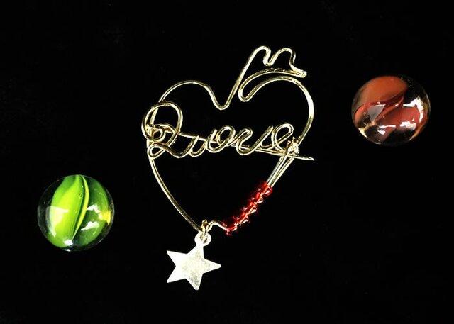 """DUSSEL デュッセルブローチ """"LOVE"""" P028の画像1枚目"""