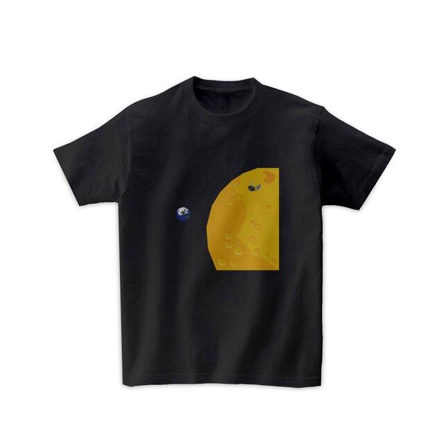 宇宙Tシャツ-探査機かぐや(黒)の画像1枚目