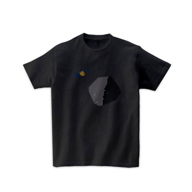 宇宙Tシャツ-はやぶさ2(黒)の画像1枚目