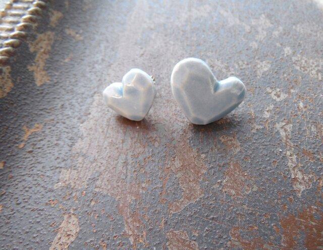 heart Shape pierce(水色)の画像1枚目