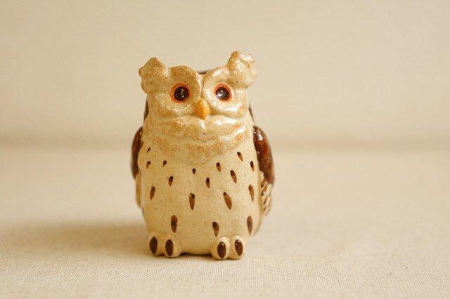 陶器のシマフクロウ 福の贈り物 不苦労(フクロウ)の画像1枚目