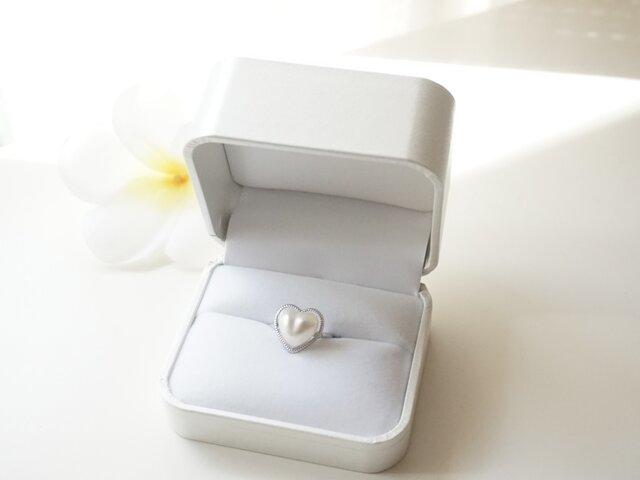 ハートの指輪 (フリーサイズ仕様)の画像1枚目
