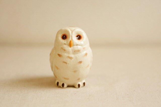 陶器のシロフクロウ 福の贈り物 不苦労(フクロウ)の画像1枚目