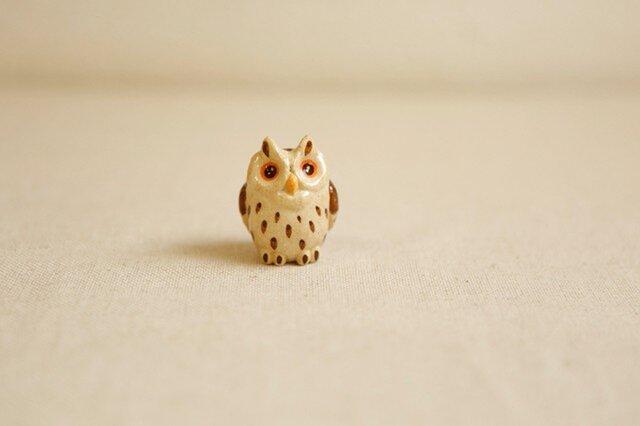 陶器のオオコノハズク 福の贈り物 不苦労(フクロウ)の画像1枚目