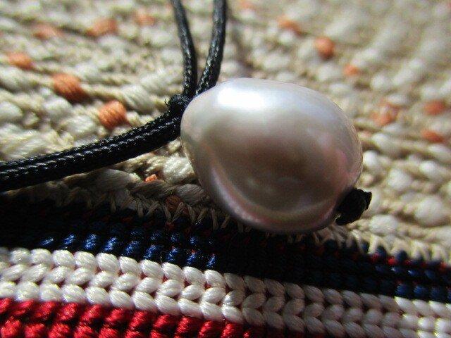 期間限定 完全1点もの バロック淡水真珠 お紐仕立て 無段階調節可能ネックレスの画像1枚目
