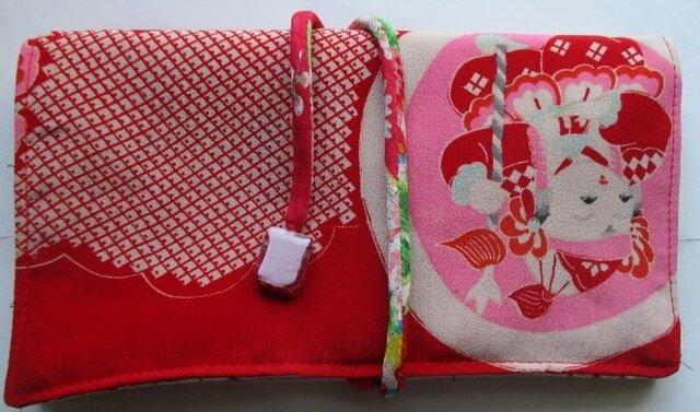 送料無料 正絹の長襦袢で作った和風財布・ポーチ3045の画像1枚目
