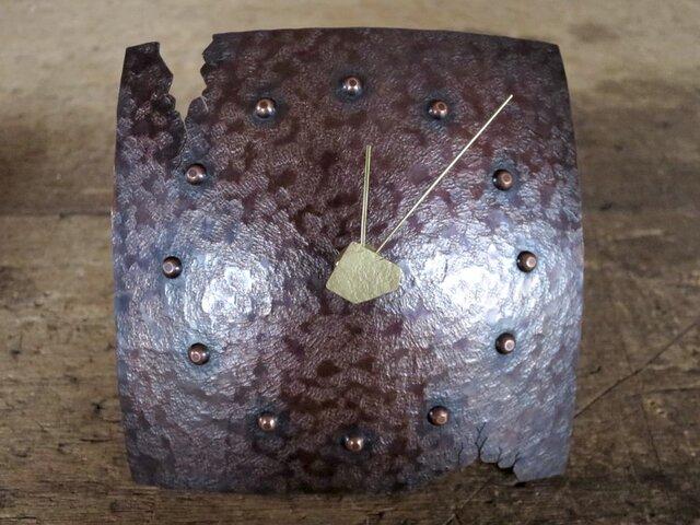 銅の置き時計03(掛け時計にもなります)の画像1枚目