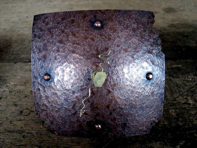 銅の置き時計02(掛け時計にもなります)の画像1枚目