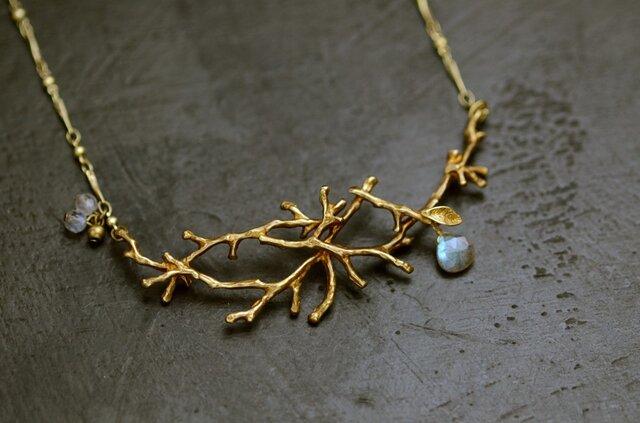 木枯らしのネックレス ラブラドライトの画像1枚目