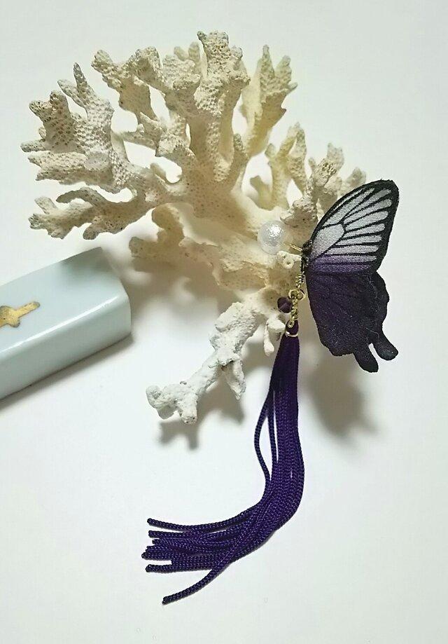 蝶のピアス 小 (アゲハ)の画像1枚目