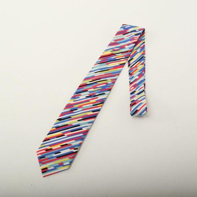 color bars tie multi ネクタイ/ボウタイ/蝶タイ/蝶ネクタイ/迷彩柄の画像1枚目