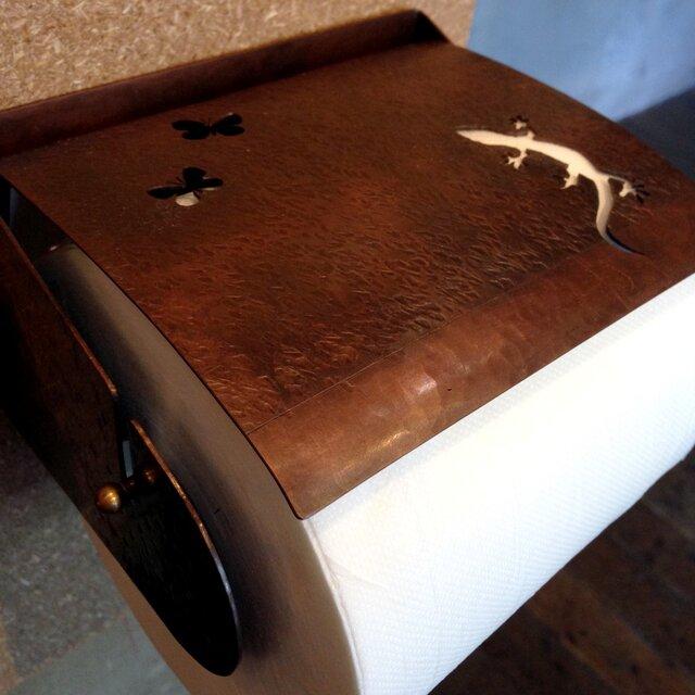 銅製ペーパーホルダー(ヤモリ)の画像1枚目