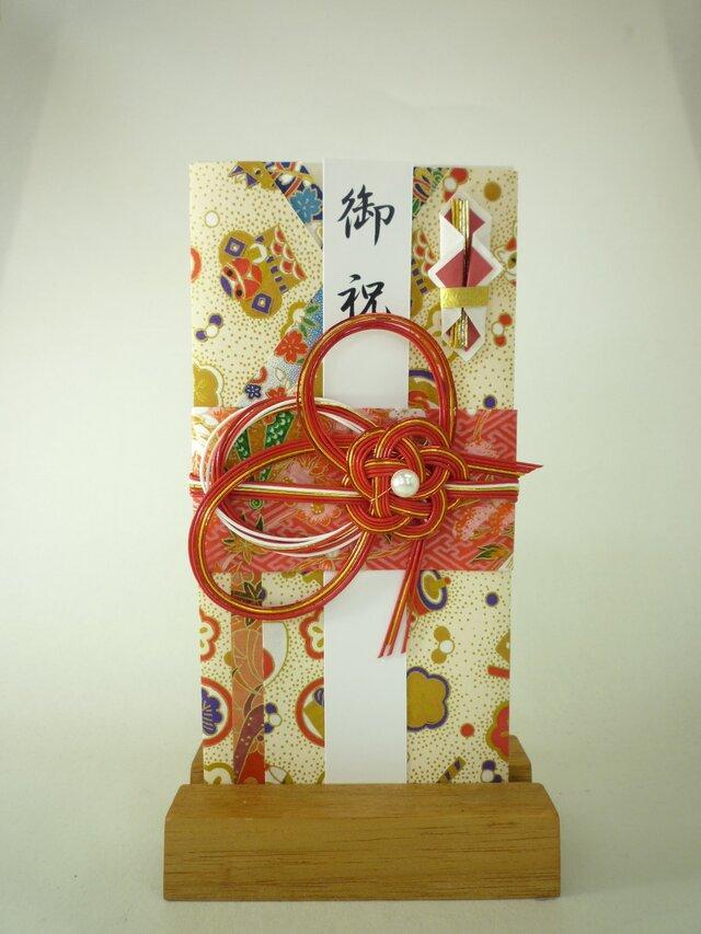 【送料無料】m261 友禅和紙と襖紙●着物の祝儀袋 の画像1枚目