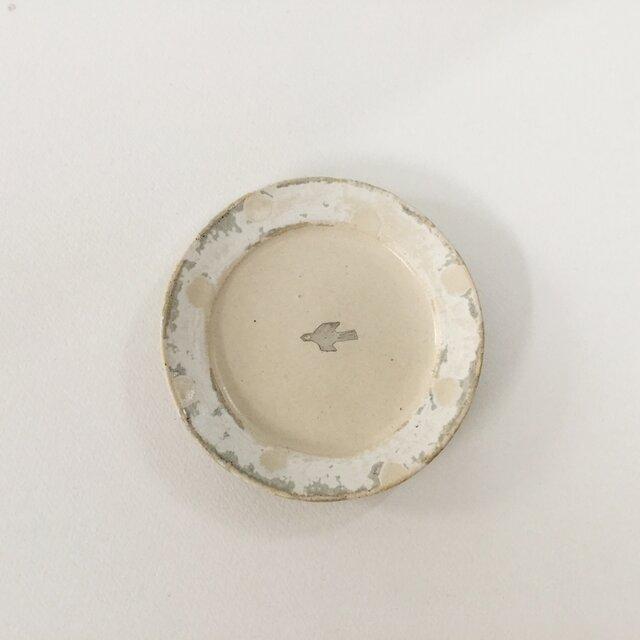 小皿 スノー 鳥の画像1枚目
