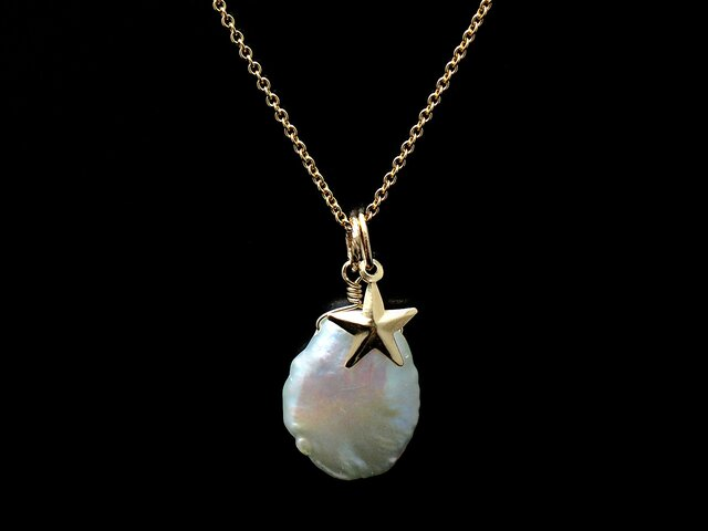 14KGF Twinkle Pearl Necklaceの画像1枚目