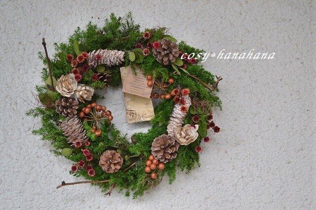 冬の森クリスマスwreathの画像1枚目