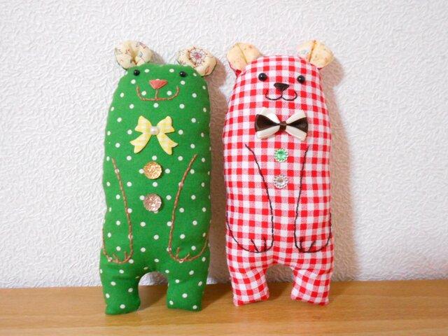 クリスマスカラーのパンナとココ 3の画像1枚目
