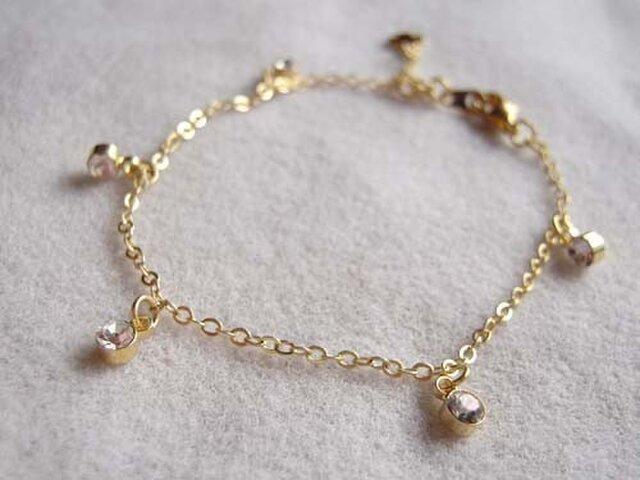 Petit Crystal Bracelet クロスチャーム付の画像1枚目
