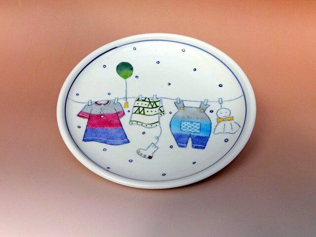 【名入れ可】こども皿洗濯柄シリーズの画像1枚目