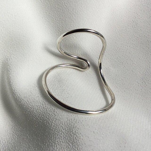 Silver950 丸線のイヤーカフ 右用の画像1枚目