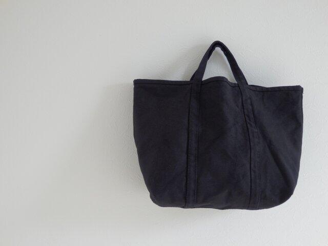 ONE WASH 帆布トート -sora01- Msize BLACKの画像1枚目
