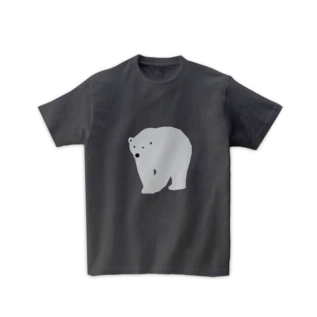 動物Tシャツ-シロクマ(チャコールグレー)の画像1枚目