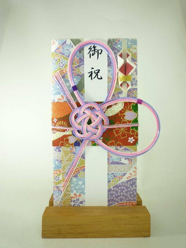 【送料無料】m263 友禅和紙と襖紙●着物の祝儀袋 の画像1枚目