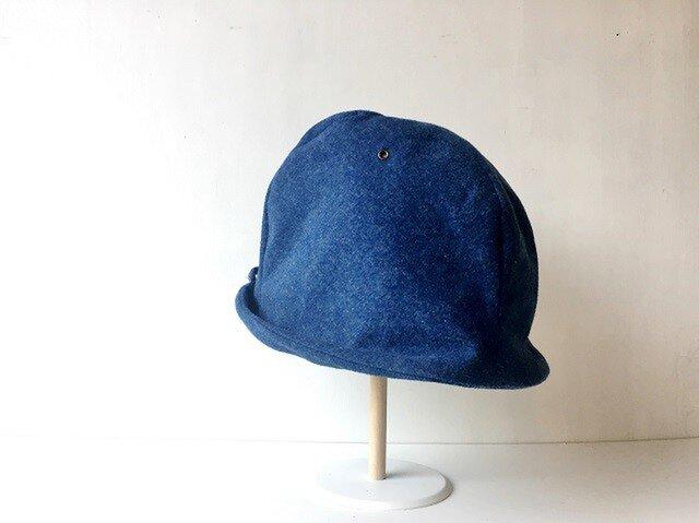 HELMA HAT | FLANNEL BLUE DENIM 【S】の画像1枚目
