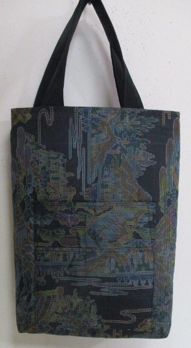 送料無料 色大島紬で作った手提げ袋 3068の画像1枚目