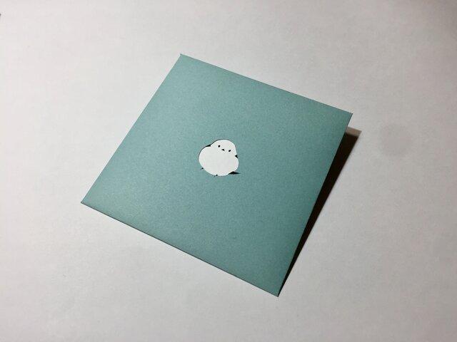【切り絵のぽち袋】 シマエナガ(大サイズ) 2枚セットの画像1枚目