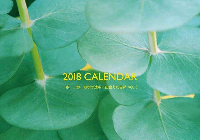 18年度カレンダー「一歩、二歩、散歩の途中に出会えた自然VOL.3」の画像1枚目