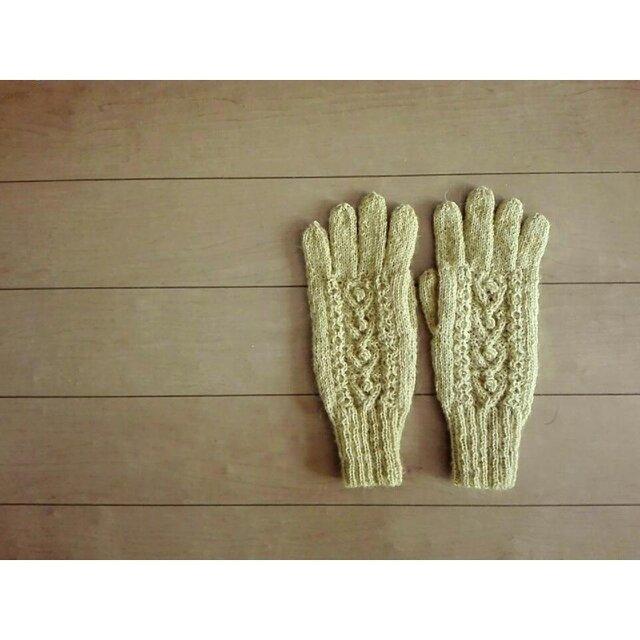 マスタードの手袋の画像1枚目