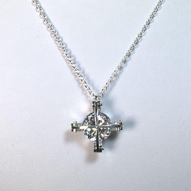 The Cross Division Pendant Silver CubicZirconia シルバー キュービックジルコニアの画像1枚目