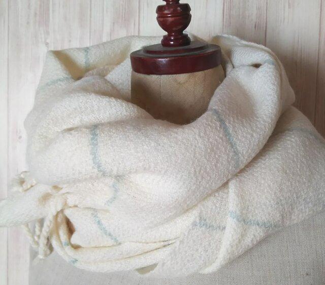 手織り ふんわりカシミヤ綾織りストール 126の画像1枚目