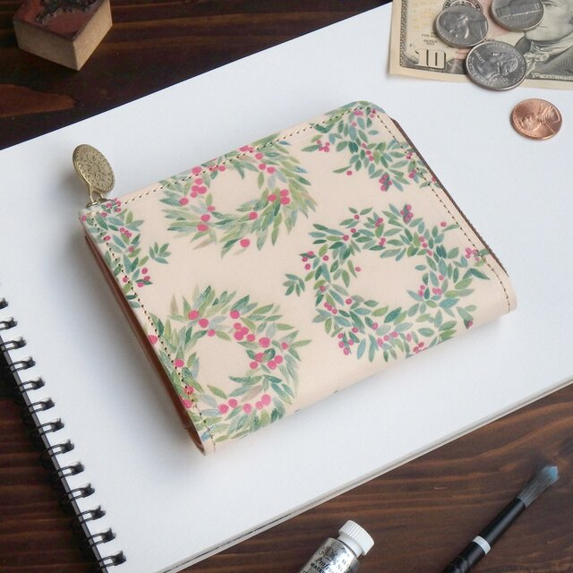 Lウォレット L字ファスナー 財布(リース)オールレザー 革  メンズ レディース ILL-1157の画像1枚目