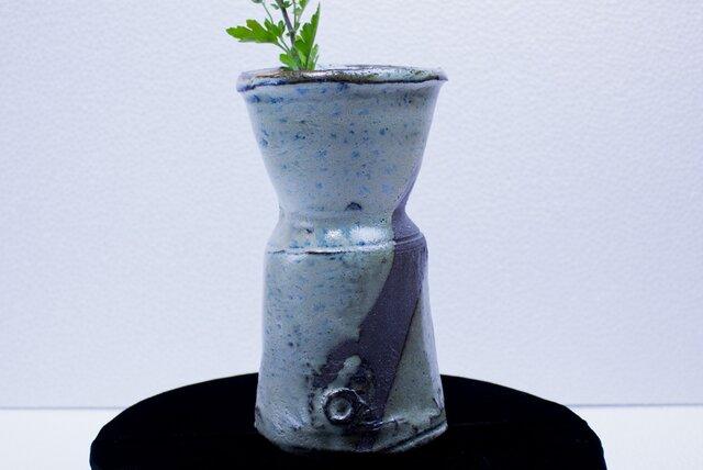 碧灰窯変 花瓶(中) A花-02Iの画像1枚目