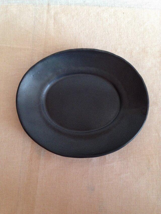 リムオーバルプレート(黒マット)の画像1枚目