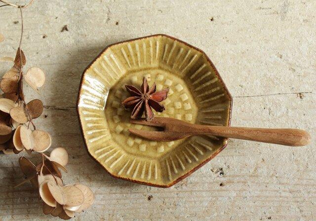 豆皿 たんぽぽ きせと系の画像1枚目