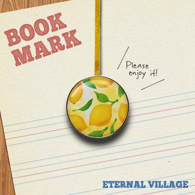 「レモン柄のクリップ型ブックマーク」No.233の画像1枚目