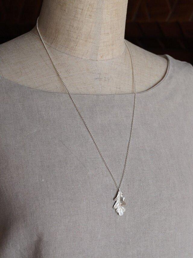 Oak leaf necklace {P077SV}の画像1枚目