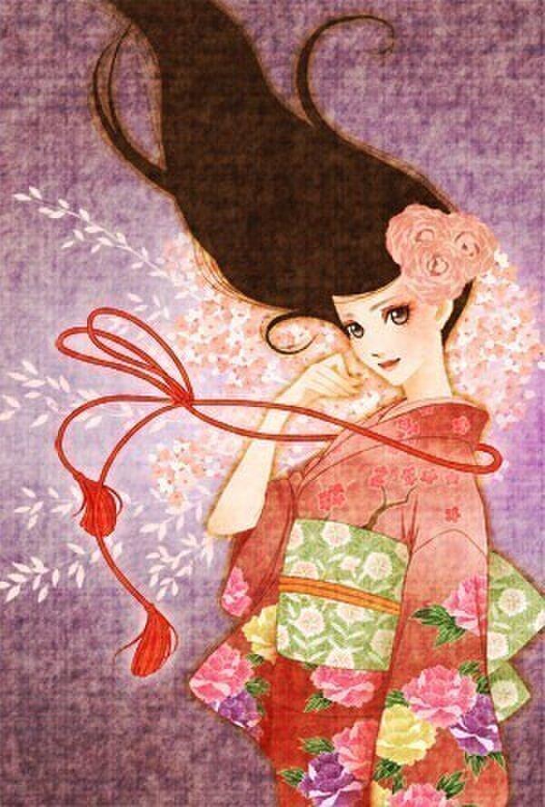 大正ロマンポストカード『春風』の画像1枚目