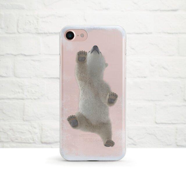 【人気商品】Baby Polar Bear Walking on My Frozen iPhone クリアソフト ケースの画像1枚目