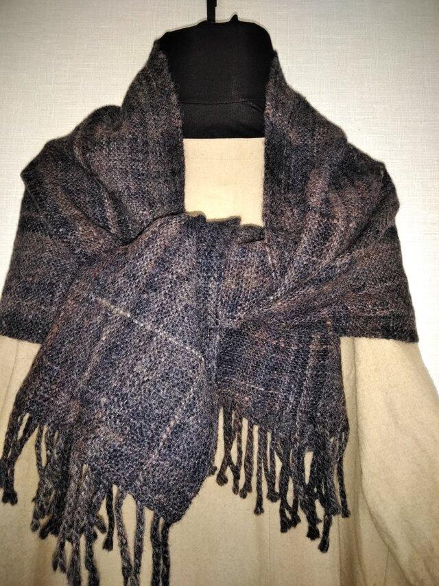 手紡ぎ手織りストール #4の画像1枚目
